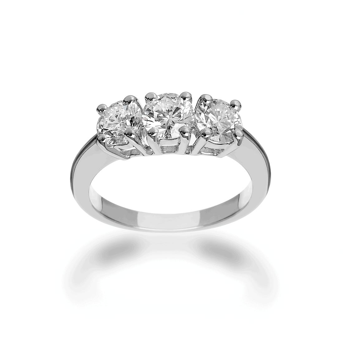 Anello Trilogy con diamanti Diamitaly Erin