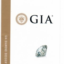 Report Diamante ceriticato GIA 0,40 f if