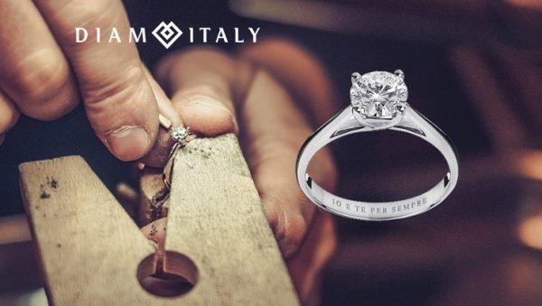 Personalizzazione di un anello in diamanti