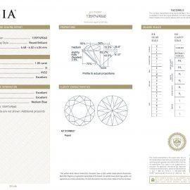 Diamante Certificato GIA - 1.05 ct colore D purezza VVS2 taglio Eccellente