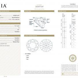Diamante Certificato GIA - 1.41 ct colore D purezza VS1 taglio Eccellente