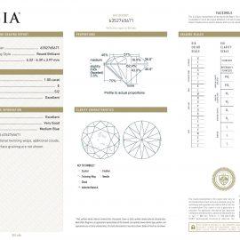 Diamante Certificato GIA - 1.00 ct colore E purezza SI2 taglio Eccellente