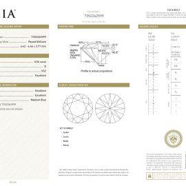 Diamante Certificato GIA - 0.96 ct colore D purezza VS2 taglio Eccellente